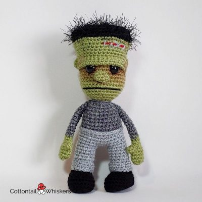 Amigurumi Frankenstein Crochet Doll Pattern by Cottontail and Whiskers