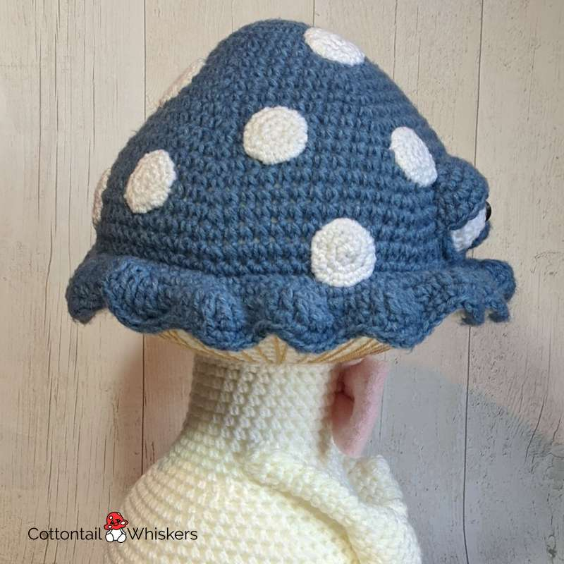 Cuddle shayman big mushroom doll crochet pattern by cottontail and whiskers