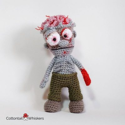 Undead Amigurumi Zombie Crochet Doll Pattern by Cottontail and Whiskers