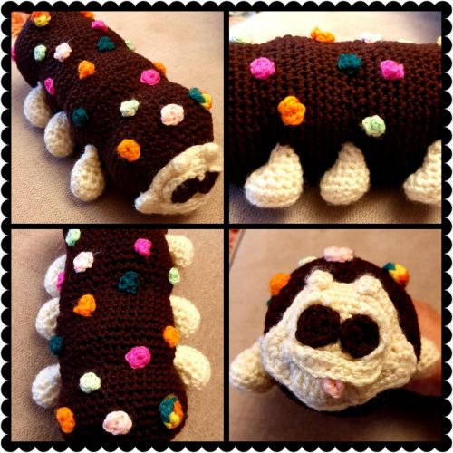 Amigurumi Caterpillar Cake Crochet Pattern Review by Rhona Day for Cottontail and Whiskers