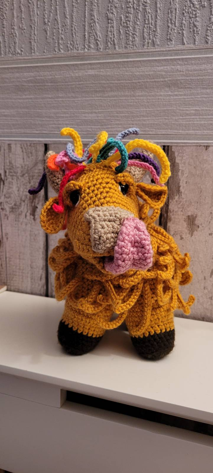 Amigurumi crochet highland doll pattern review by donna for cottontail & whiskers