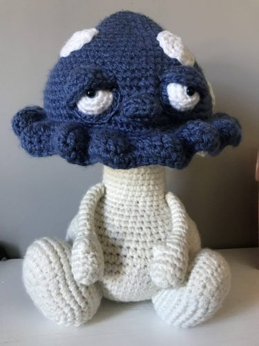 Amigurumi crochet mushroom pattern review by deanne for cottontail and whiskers