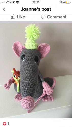 Amigurumi crochet rat pattern review for cottontail and whiskers by joanne nyberg