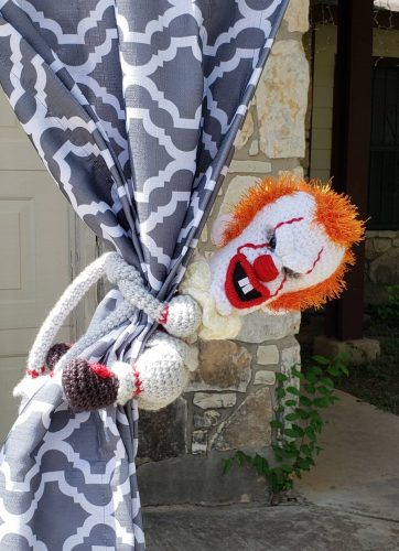 Scary clown curtain tie backs photo review